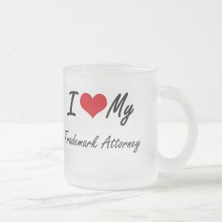 I love my Trademark Attorney Frosted Glass Mug