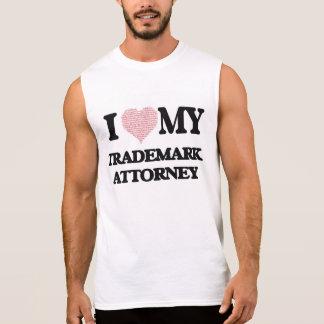 I love my Trademark Attorney (Heart Made from Word Sleeveless Tee
