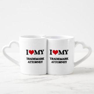I love my Trademark Attorney Couple Mugs