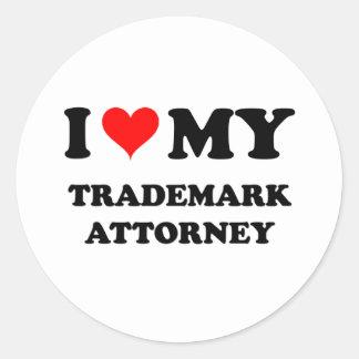 I Love My Trademark Attorney Sticker