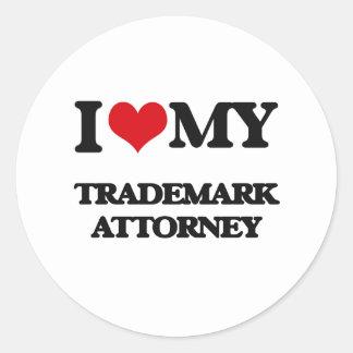 I love my Trademark Attorney Round Sticker