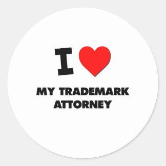 I love My Trademark Attorney Round Stickers