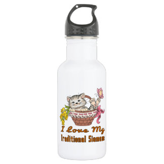 I Love My Traditional Siamese 532 Ml Water Bottle