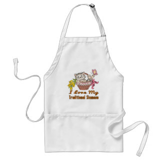 I Love My Traditional Siamese Standard Apron