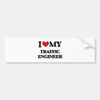 I love my Traffic Engineer Bumper Stickers