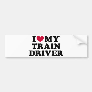 I love my train driver bumper sticker