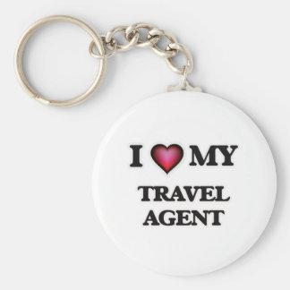I love my Travel Agent Basic Round Button Key Ring