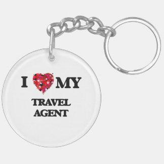 I love my Travel Agent Double-Sided Round Acrylic Key Ring
