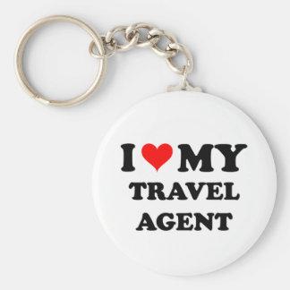 I Love My Travel Agent Keychain