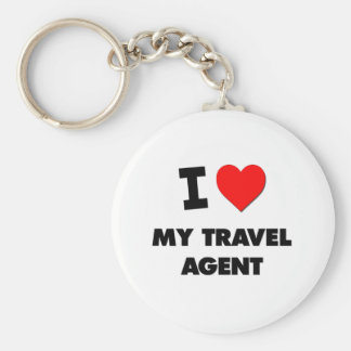 I love My Travel Agent Key Chain