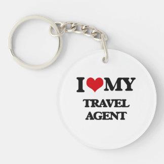 I love my Travel Agent Single-Sided Round Acrylic Key Ring