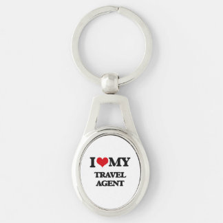 I love my Travel Agent Silver-Colored Oval Key Ring
