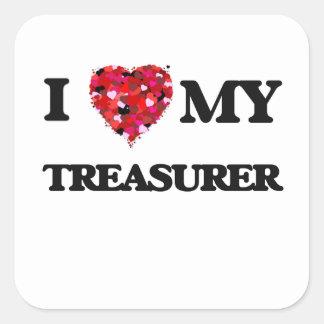 I love my Treasurer Square Sticker