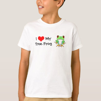 I Love My Tree Frog Childrens T-Shirt