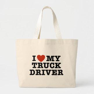 I Love My Truck Driver Jumbo Tote Bag
