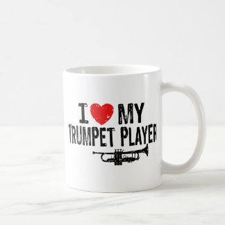 I Love My Trumpet Player Coffee Mugs