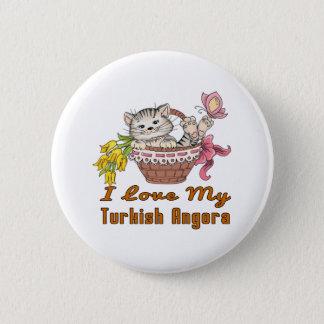 I Love My Turkish Angora 6 Cm Round Badge