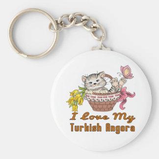 I Love My Turkish Angora Key Ring