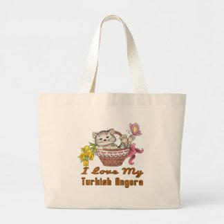 I Love My Turkish Angora Large Tote Bag
