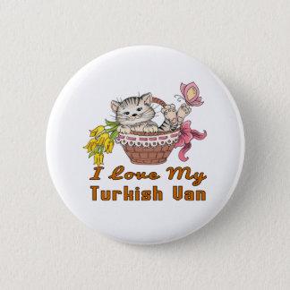 I Love My Turkish Van 6 Cm Round Badge