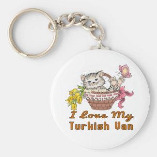 I Love My Turkish Van Key Ring