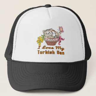 I Love My Turkish Van Trucker Hat
