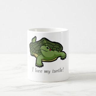 I Love My Turtle Basic White Mug