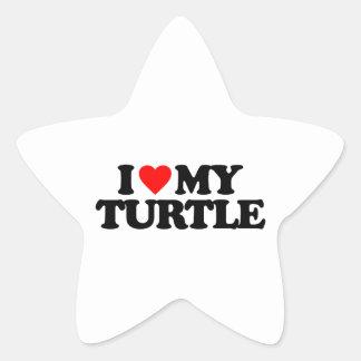 I LOVE MY TURTLE STICKERS