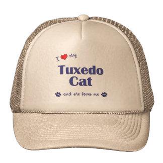 I Love My Tuxedo Cat (Female Cat) Cap
