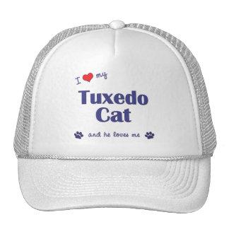 I Love My Tuxedo Cat Male Cat Mesh Hats