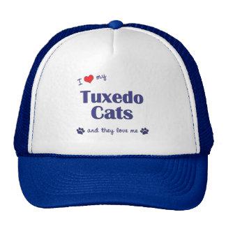 I Love My Tuxedo Cats (Multiple Cats) Cap