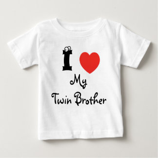 I love my twin brother shirt. infant T-Shirt