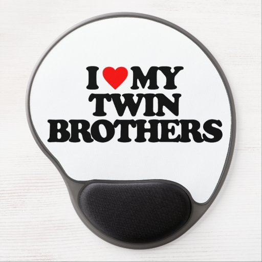 I LOVE MY TWIN BROTHERS GEL MOUSEPADS