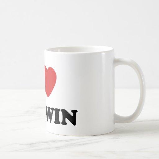 I Love My Twin Coffee Mugs