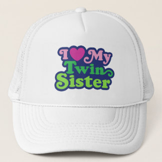 I Love My Twin Sister Cap