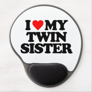 I LOVE MY TWIN SISTER GEL MOUSE MATS