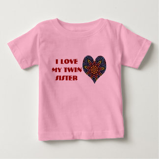 I Love My Twin Sister, toddler shirt