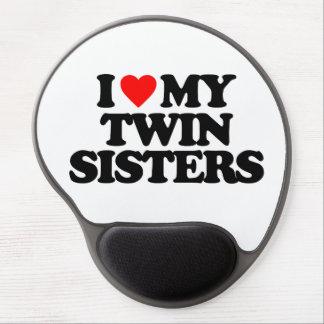 I LOVE MY TWIN SISTERS GEL MOUSEPAD
