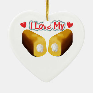 I Love My Twinkies Christmas Ornament