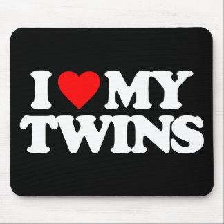 I LOVE MY TWINS MOUSE PAD