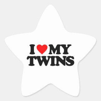 I LOVE MY TWINS STAR STICKER