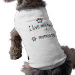 I love my two moms rainbow paw doggie shirt