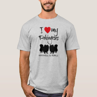 I Love My Two Pekingeses T-Shirt