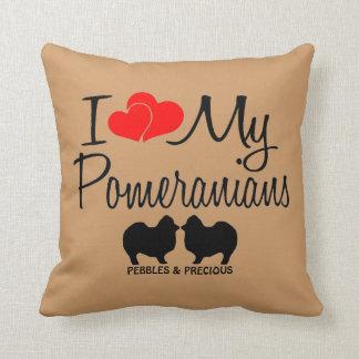 I Love My Two Pomeranians Cushion