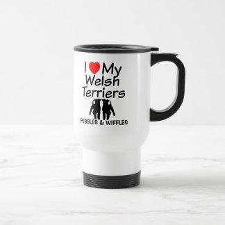 I Love My TWO Welsh Terriers Mug