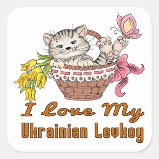 I Love My Ukrainian Levkoy Square Sticker