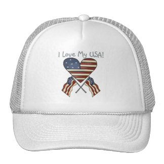 I Love My USA Tshirts and Gifts Trucker Hat
