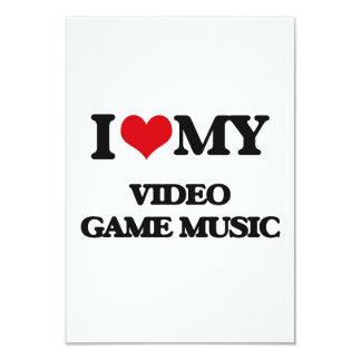 I Love My VIDEO GAME MUSIC Custom Invitation Cards