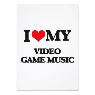 I Love My VIDEO GAME MUSIC Personalized Invite