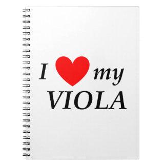 I Love My Viola (I Heart My Viola) Spiral Notebooks